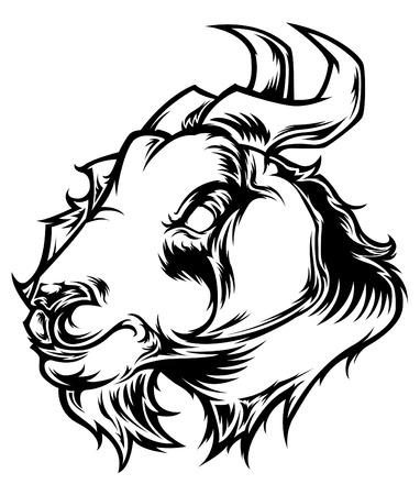 billy: Goat Head Vector