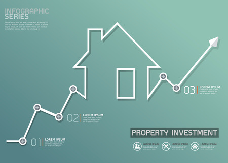 the property: Property Investment Line Diagram Template
