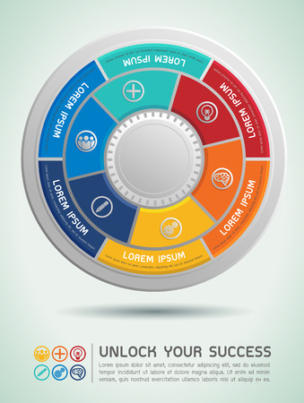 Unlock Your Success Vector Illustration