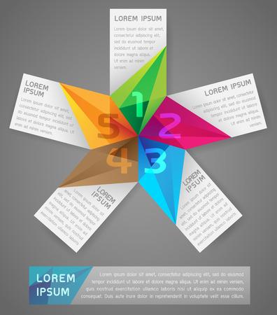 asterisk: Asterisk Infographic Vector Illustration