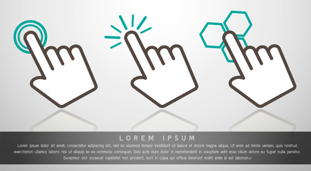 mouse click: Fingle Point Icon Vector Illustration