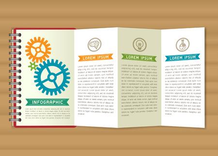 calendario escolar: Notebook presentación Ilustración vectorial