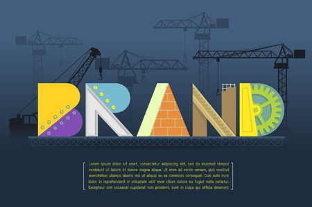 Brand Making Vector Illustration Illustration