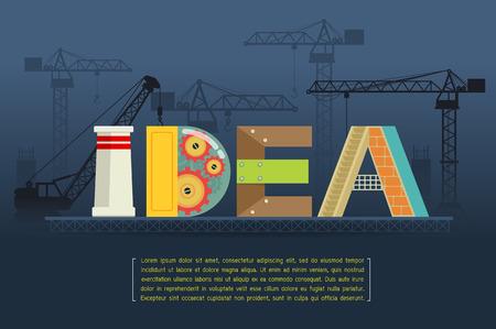 making: Idea Making Vector Illustration