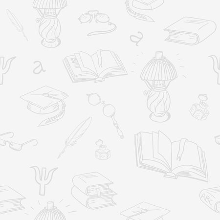 Books library seamless pattern. Reading background -- hand drawn doodle pattern. Seamless pattern can be used for wallpaper, pattern fills, web page background, surface textures.