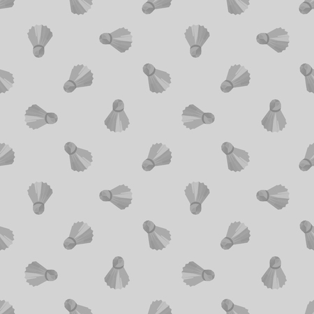 birdies: Seamless grey light badminton ball pattern, shuttlecock seamless background, sport polygonal pattern with birdies can be used for web page backgrounds, pattern fills