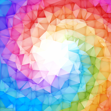 rainbow colors: Square Colorful rainbow polygon background or vector frame. Rainbow colors.