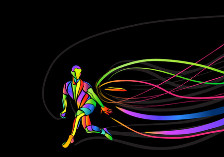 Ultimate sport, flying disc invitation poster or flyer background with empty space, banner template Иллюстрация