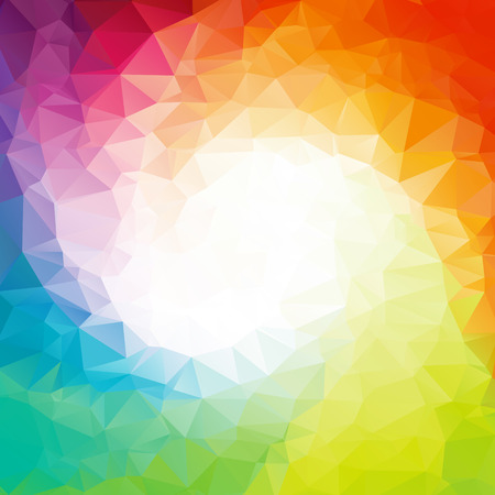 rainbow colors: Square Colorful rainbow polygon background or frame. Rainbow colors.