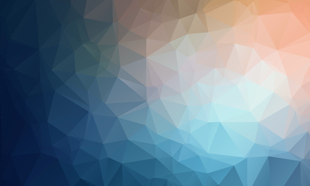 Vector Geometrical polygon abstract purple background blue to peach color. Vector illustration