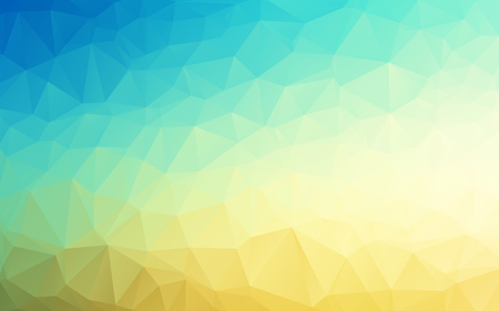 Vector Geometrical polygon abstract background sky blue to sand yellow color. Vector illustration