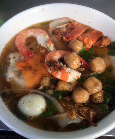 Banh Canh Cua Vietnamese Crab Thick Rice Noodle Soup