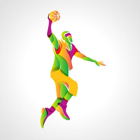 jump shot: Basketball player jump shot. Vector illustration Illustration