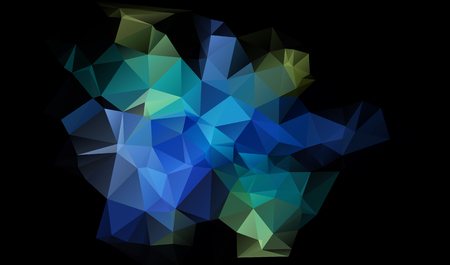 Abstract polygonal dark blue geometric background. Low poly. Ilustracja