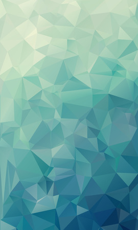 Abstract natural green geometric background, consists of triangles. Polygonal vertical background.