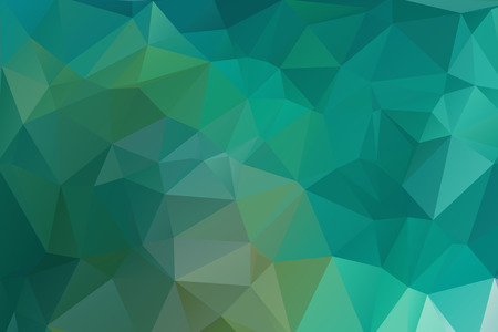 Abstract bright green geometric background, consists of triangles. Polygonal horizontal background. Ilustracja
