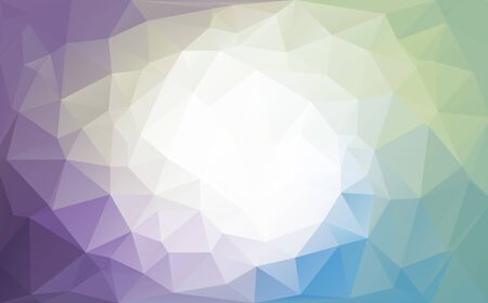 Cold colors polygon background or vector frame. Blue colors. Ilustracja