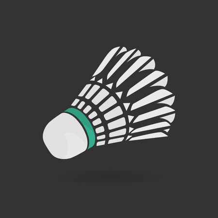 Badminton shuttlecock or badminton ball. Vector clip art