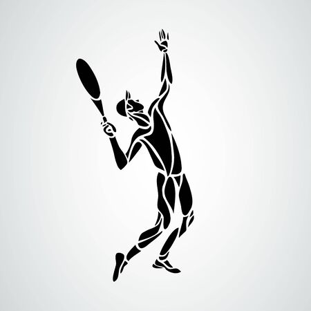 Tennis player, black vector creative silhouette eps10