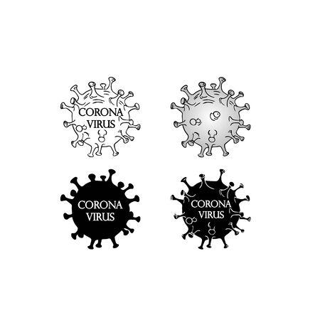 Black Coronavirus molecule icon. Vector illustration eps10