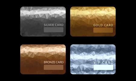 Gold, silver, bronze, VIP premium member cards Stok Fotoğraf - 150755053