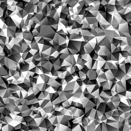 Abstract polygonal dark geometric background. Low poly. Çizim