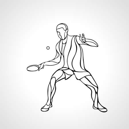 Table Tennis Male Player with Racket Overhead clipart