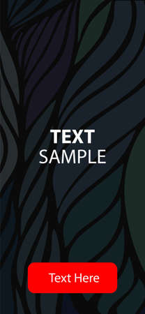 Mobile application interface design. Dark background with stripes