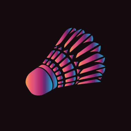 Badminton shuttlecock or badminton ball. Stylized creative Vectores
