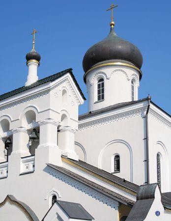 The russian orthodoxy church, Turchaninov str., Moscow, Russia Stock Photo