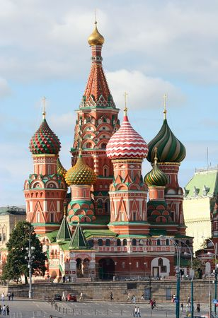 The Cathedral of Saint Basil, Red square, Moscow, Russia photo