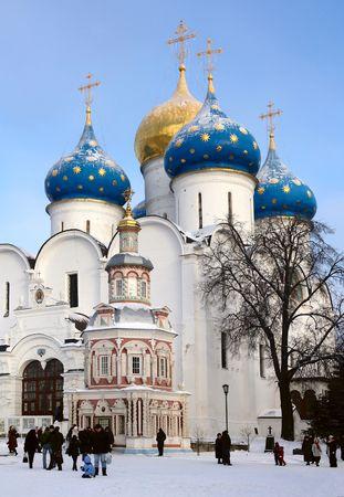 Fragment of russian orthodoxy church, Uspensky church, St. Sergiy Lavra, Sergiev Posad, Russia