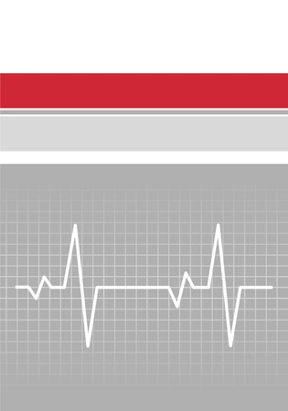 Book Cover with the cardiogram. Vector illustration Illustration