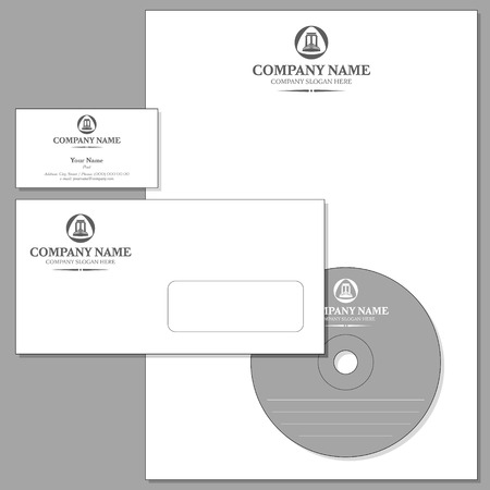 Vector Set of Corporate identity (Envelope, Visiting card, Headed note-paper, CD)