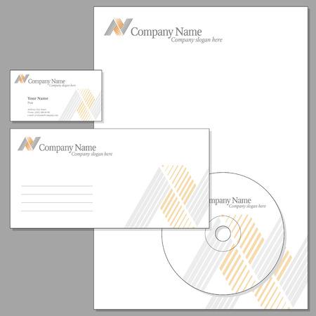 carta da lettere: Vettore di Corporate identit� (buste, visiting card, headed nota-carta, CD)