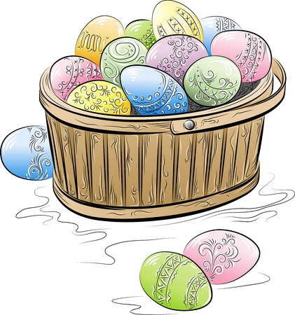 The color symbol of Easter. Vector illustration