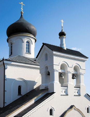 str: The russian orthodoxy church, Turchaninov str., Moscow, Russia Stock Photo