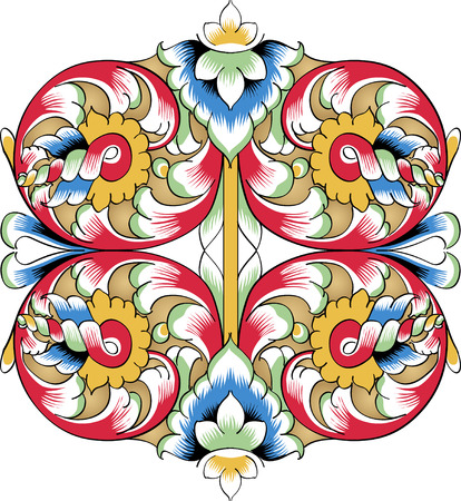 Fragment of drawing orthodoxy pattern, Russia