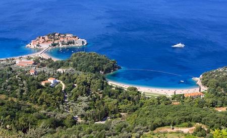 sveti: Sveti Stefan (St. Stefan) island-resort in Adriatic sea, Montenegro