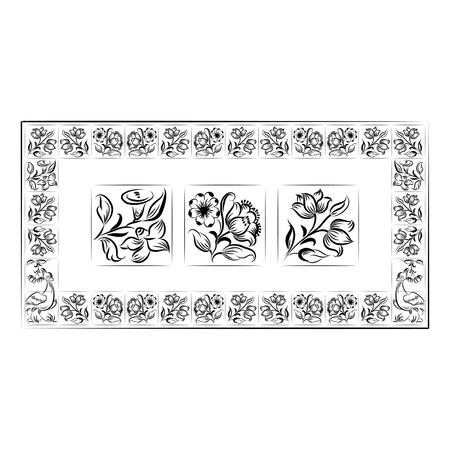 Old tiles portuguese frame.