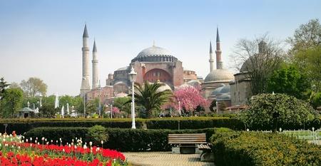 blue mosque: The Hagia Sophia in Istanbul, Turkey