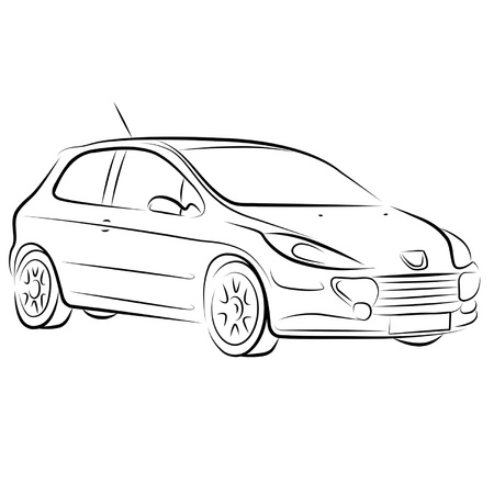 Drawing of the car. Stock Vector - 10577078