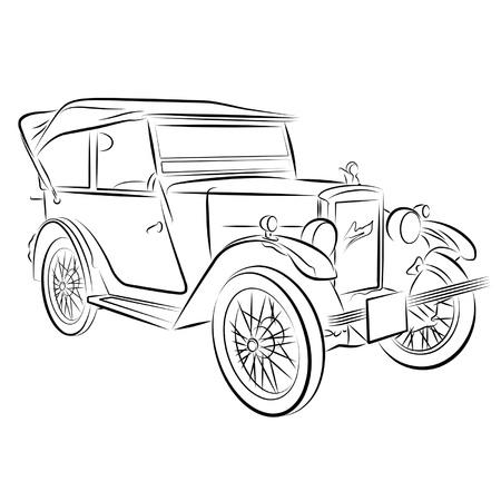 Zeichnung des Wagens.