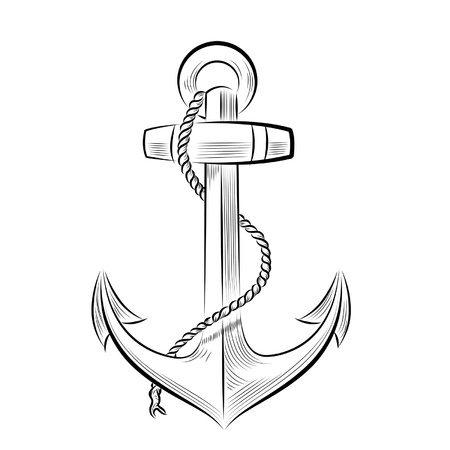 Drawing one-color anchor