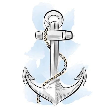 mare agitato: Disegno di ancoraggio del colore Vettoriali