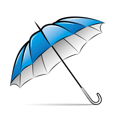 Drawing umbrella on white background