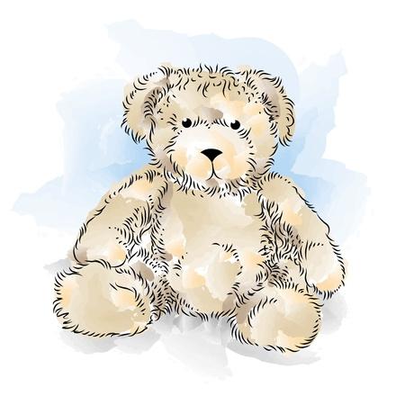 Drawing Teddy Bear  Color Stock Vector - 12828908