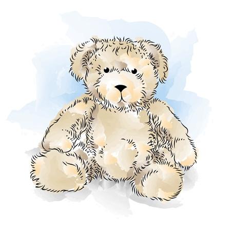 Drawing Teddy Bear  Color Stock Vector - 12828908