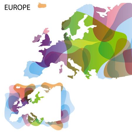 Design Map of Europe  Vector illustration background