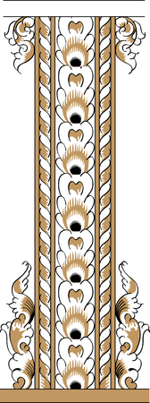 folio: Fragment of black and gold drawing orthodoxy pattern, Russia
